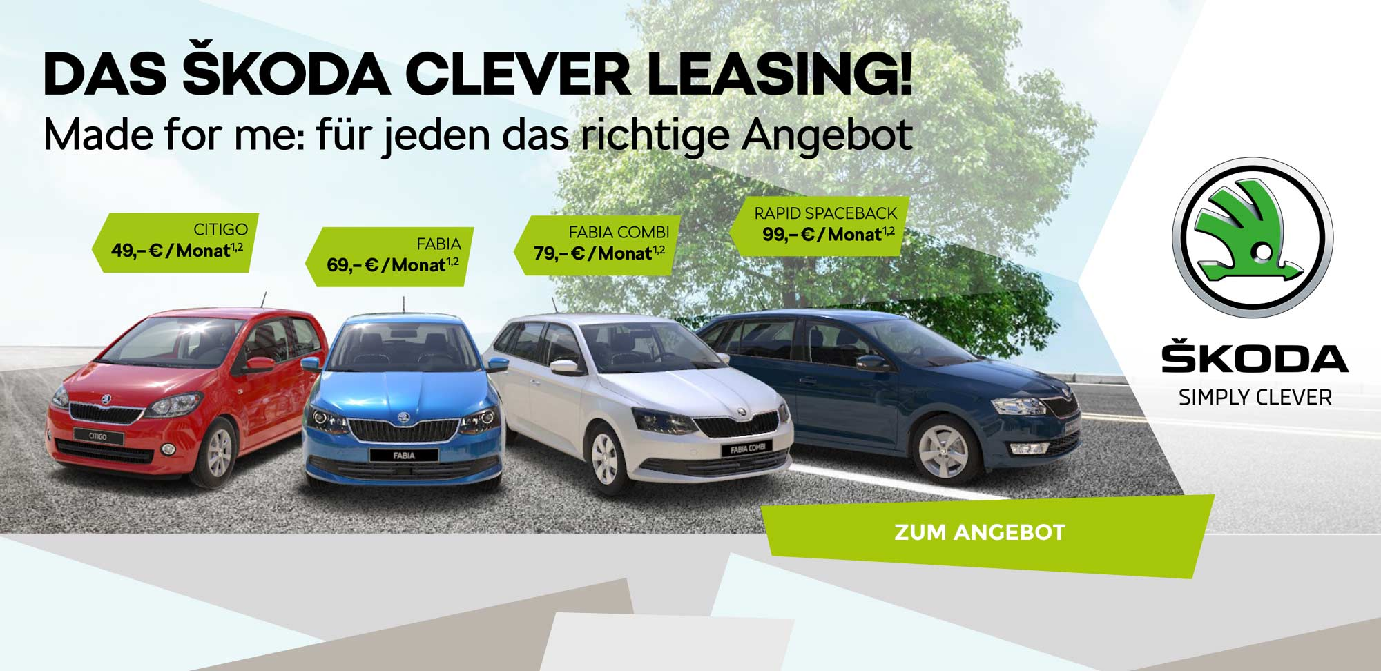 skoda banner clever leasing