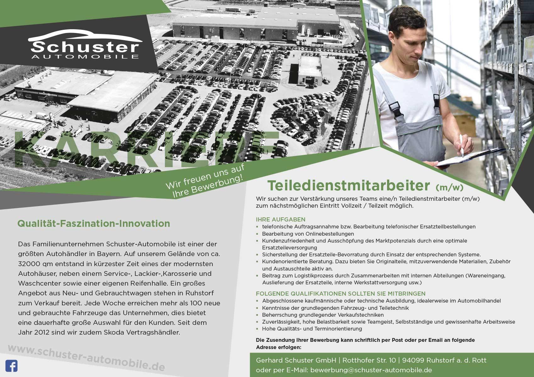 Jobs & Karriere - Schuster Automobile